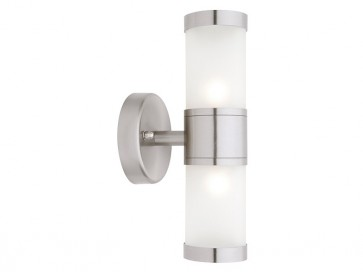 Liberty 2 Light Outdoor Wall Light in 304 Stainless Steel Cougar