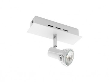 Lunar 1 Light Ceiling or Wall Spotlight in Matte White Cougar