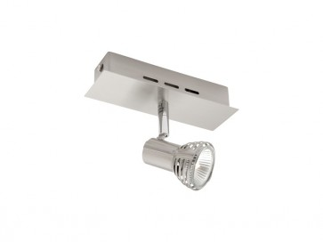 Lunar 1 Light Ceiling or Wall Spotlight in Satin Chrome Cougar