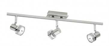 Mercury 3 Light Ceiling Rail Spotlight in Satin Chrome Cougar