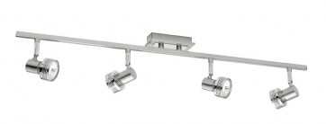 Mercury 4 Light Ceiling Rail Spotlight in Satin Chrome Cougar