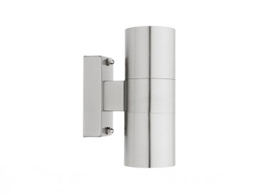 Oslo 2 Light GU10 Exterior Wall Light in 316 Stainless Steel Cougar