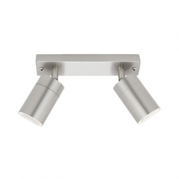 Oslo 2 Light GU10 Rail Exterior Lighting in 304 Stainless Steel Cougar