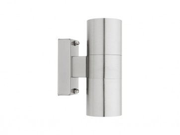 Oslo 2 Light Outdoor Wall Light in 304 Stainless Steel Cougar