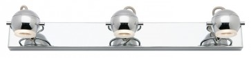 Rondo 3 Light Vanity Light in Chrome Cougar