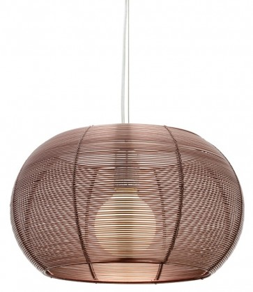Santana 3 Light Pendant in Coffee Cougar