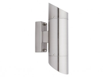 Sentry 2 Light Outdoor Wall Light in 316 Stainless Steel Cougar
