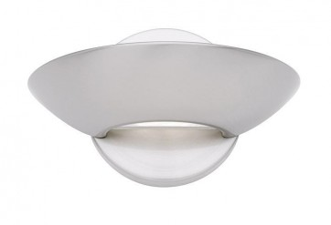 Shayne 1 Light Wall Sconce in Satin Chrome Cougar