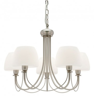 Stanton 5 Light Pendant in Satin Chrome Cougar