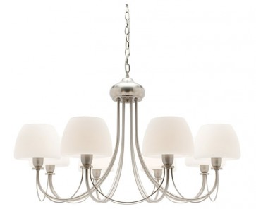 Stanton 8 Light Pendant in Satin Chrome Cougar