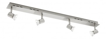 Titan Quad Head Rail Ceiling Spotlight Cougar