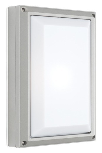 Vigo Plain Outdoor Wall Lantern in Silver Cougar