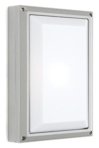 Vigo Plain Outdoor Wall Lantern in Silver Cougar