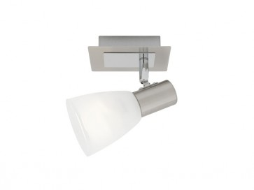 Vulcan 1 Light Ceiling or Wall Spotlight in Satin Chrome Cougar