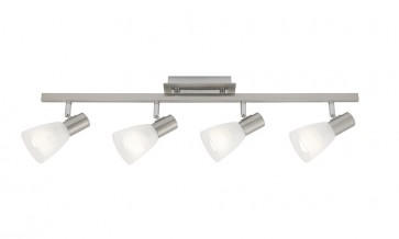 Vulcan 4 Light Ceiling Rail Spotlight in Satin Chrome Cougar