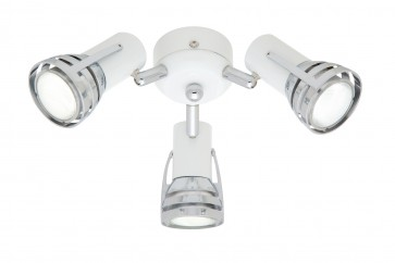 Zeus 3 Light Ceiling Fan Light in Matte White Cougar