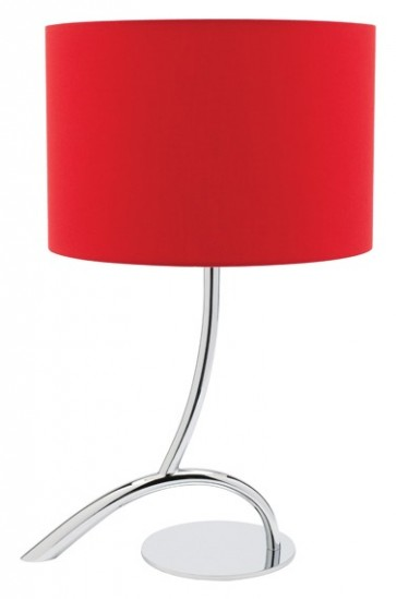 Zoe Table Lamp in Red Cougar