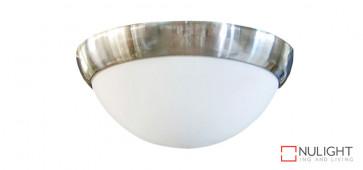 Oyster Light for Harmony Ceiling Fan - 2 x E27 Lamp Holder - Brushed Chrome VTA