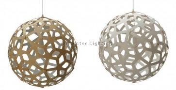 PE0075 Coral Pendant White Inside or White in Two Sides David Trubridge