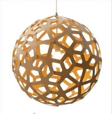 PE0042 Coral Pendant Bright Spark David Trubridge