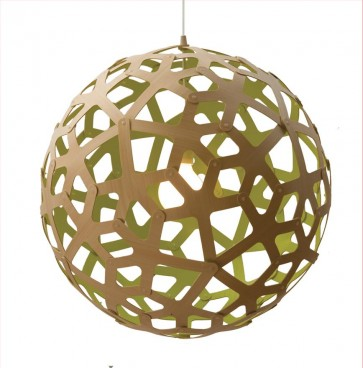 PE0043 Coral Pendant Citrus David Trubridge