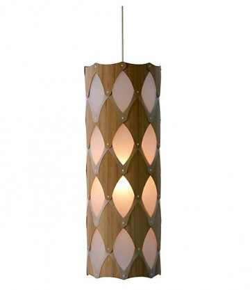 PE0073 Ika full hanging lamp bamboo plywood David Trubridge