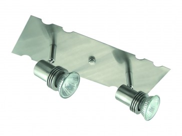 29cm Two Light Bar Ceiling Spotlight Domus Lighting