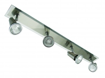 Dragone Four Light Wall Spotlight in Brushed Chrome Domus Lighting