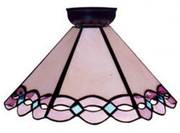 Flush Mount with Pink and Blue Design Domus Lighting