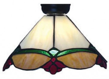 Flush Mount with Red and Green Straight Panel Design Domus Lighting