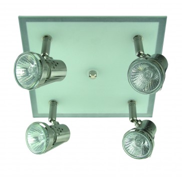 Four Light Square Ceiling Spotlight Domus Lighting