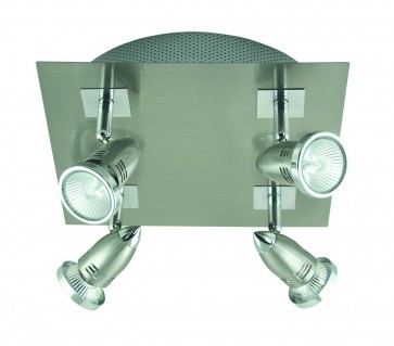 Fratelle Four Light Square Wall Spotlight in Brushed Chrome Domus Lighting