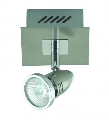 Fratelle One Light Wall Spotlight in Brushed Chrome Domus Lighting