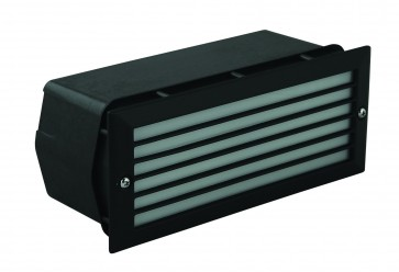 Grille Outdoor Bricklight with Polycarbonate Housing Domus Lighting