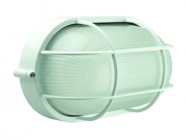 Large Caged Oval Bunker Light Domus Lighting