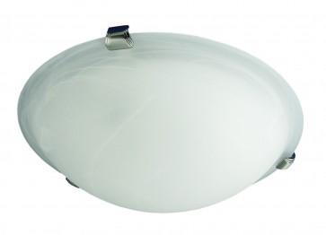 Large Flush Mount with White Alabaster Glass Domus Lighting