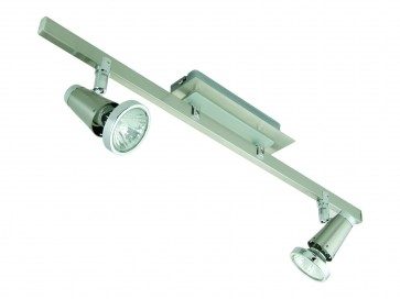Lupose Two Light Wall Spotlight in Brushed Chrome Domus Lighting