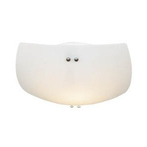 Medium Flush Mount with Satin Opal Glass Domus Lighting