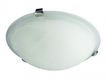 Medium Flush Mount with White Alabaster Glass Domus Lighting