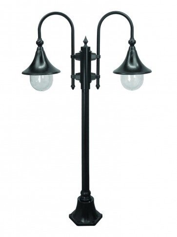 Monaco Small Two Light Outdoor Post Lantern Domus Lighting