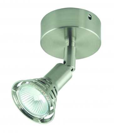 One Light Adjustable Ceiling Spotlight with Farrete Head on Base Domus Lighting