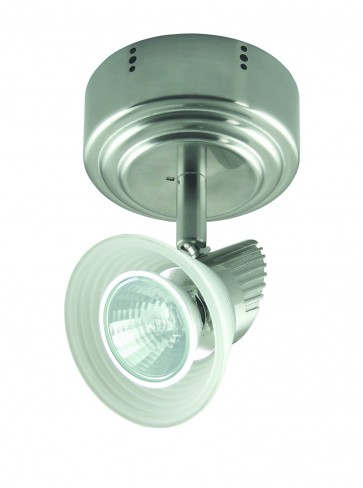 One Light Adjustable Ceiling Spotlight with Step Glass Domus Lighting