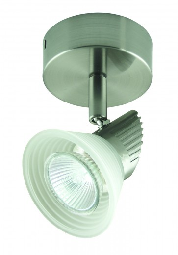 One Light Ceiling Spotlight with Step Glass Domus Lighting