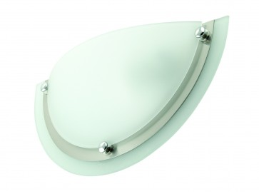 One Light Wall Sconce in Satin Chrome with Knobs Domus Lighting