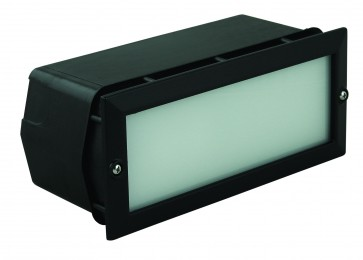 Plain Outdoor Bricklight with Polycarbonate Housing Domus Lighting