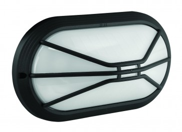 Polycarbonate Oval Bunker Light with Styled Grille Domus Lighting