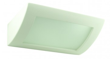 Shape Ceramic Wall Sconce with Frosted Glass Domus Lighting