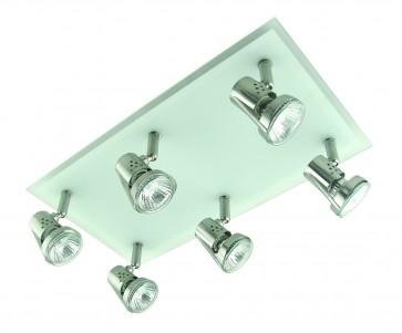 Six Light Square Ceiling Spotlight Domus Lighting