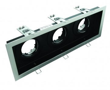 Slotter Recessed Triple Downlight Domus Lighting