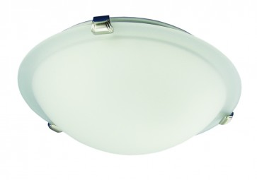 Small Flush Mount with Frosted Glass Domus Lighting